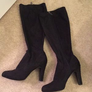 Tahari Wide Calf Faux Suede Knee High Boots